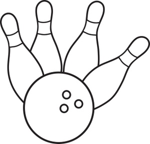 collection of ball. Bowling clipart black and white
