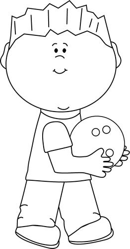 Bowling clipart black and white. Clip art images boy