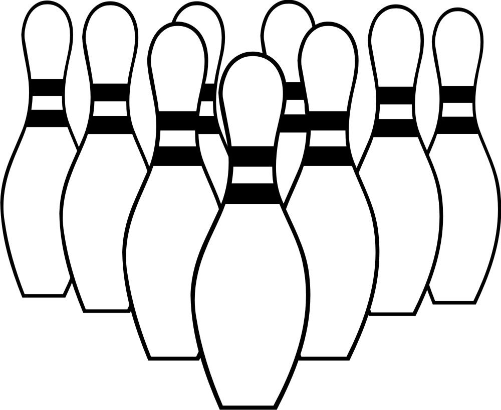 Bowling clipart black and white. Free clip art party