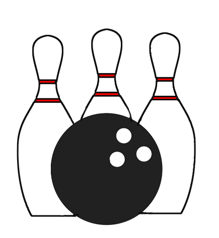 Bowling clipart black and white. Icon transparent background