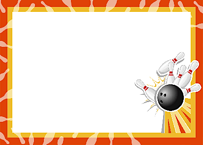 Bowling clipart border.  collection of high