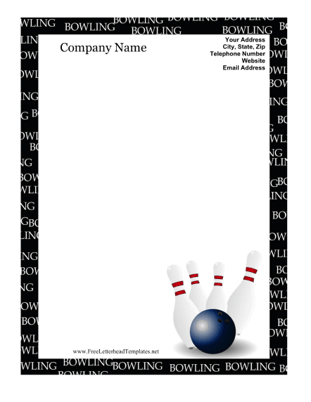 Bowling clipart border. Template incep imagine ex