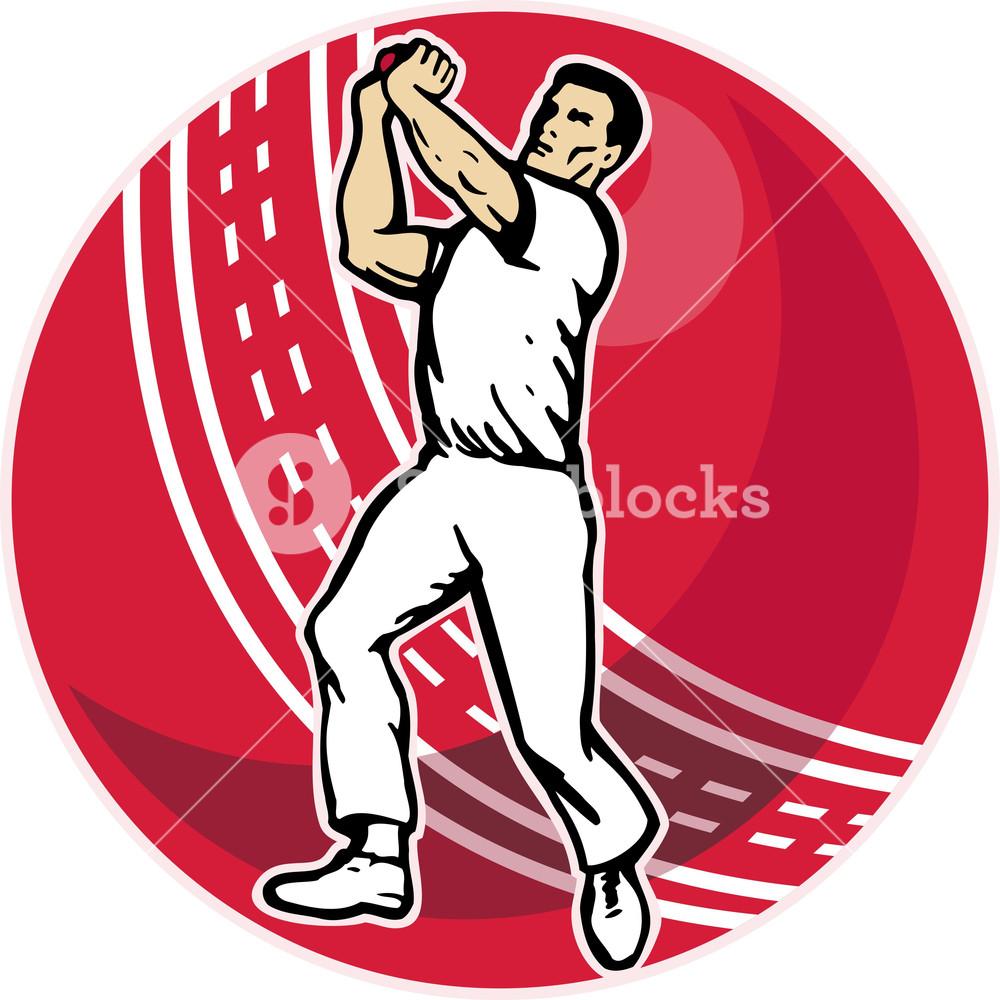 Bowling clipart bowler. Cricket ball royalty free
