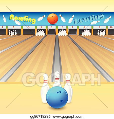 Eps vector stock illustration. Bowling clipart bowling alley