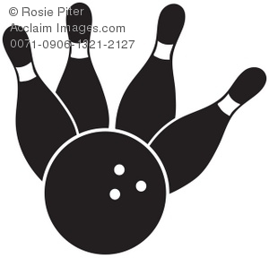 Bowling clipart bowling ball. Clip art ilustration of