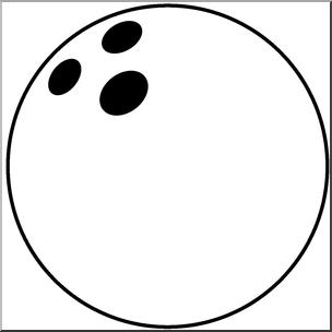 Clip art b w. Bowling clipart bowling ball