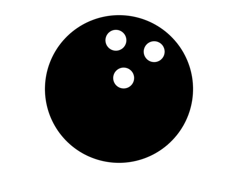 Svg cut file strike. Bowling clipart bowling ball
