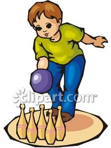 Bowling clipart bowling game. Little boy royalty free