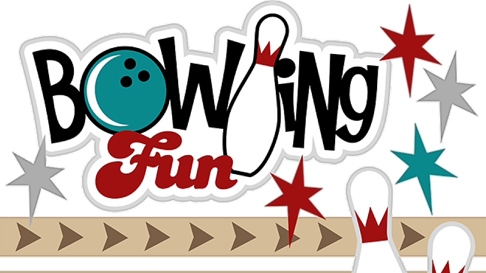 Family bowling night hermitage. Hills clipart illustration