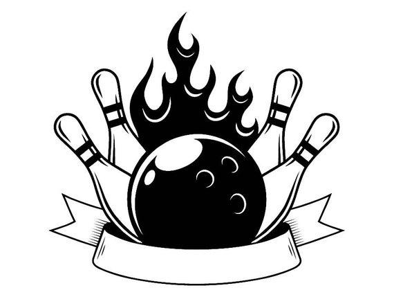 Logo ball pin sports. Bowling clipart bowling tournament