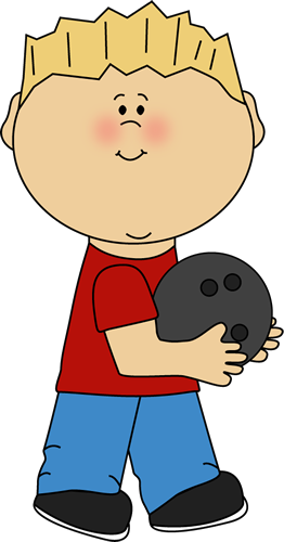 With ball clip art. Bowling clipart boy