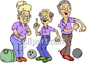 Old people on a. Bowling clipart carpet bowling