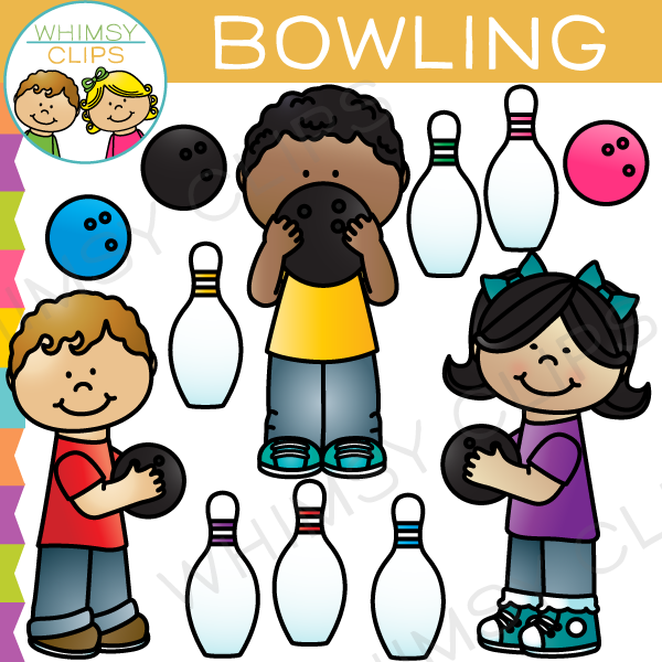 bowling clipart child