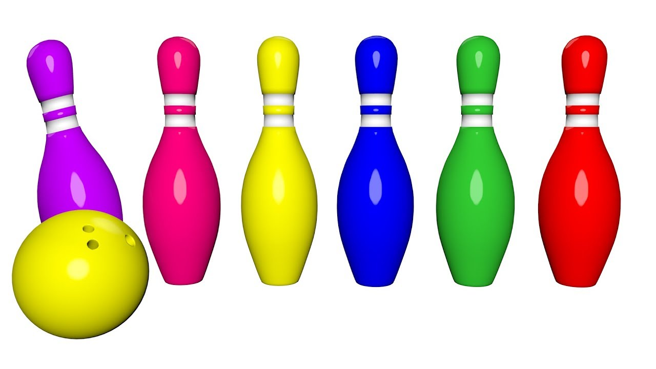 Bowling clipart colorful. Learning colors for toddlers