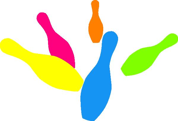 Bowling clipart colorful. Pins clip art at