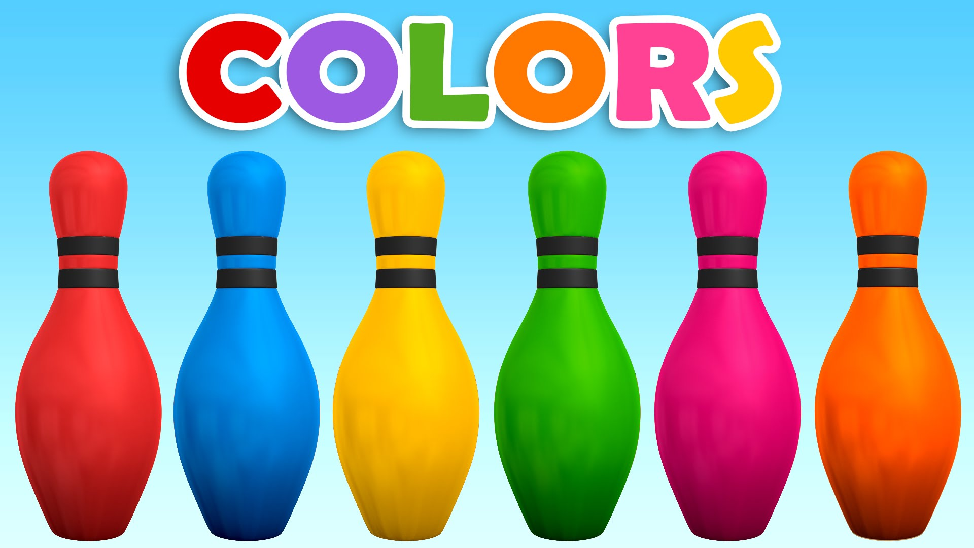 Learn colors with d. Bowling clipart colorful
