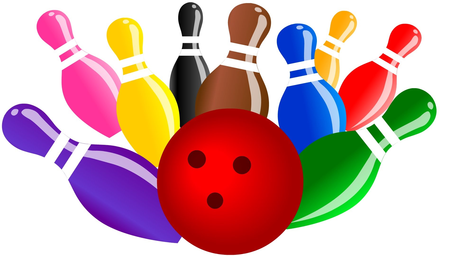 bowling clipart colorful