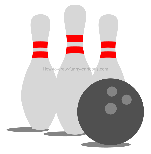 Bowling clipart drawing. How to draw a