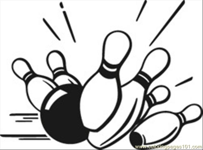 Free how to draw. Bowling clipart drawing
