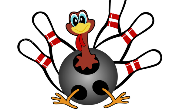 Bowling clipart event. Turkey bowl by local