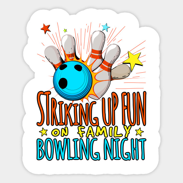 Striking up fun on. Bowling clipart family bowling