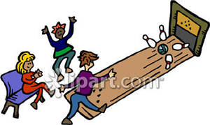 Royalty free picture . Bowling clipart family bowling