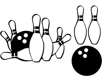 Etsy . Bowling clipart file