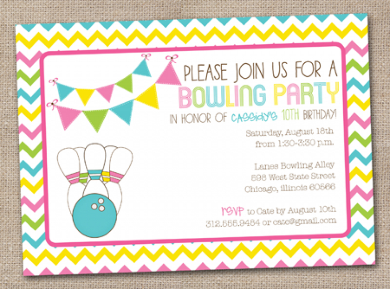 Birthday party free printable. Bowling clipart invitation