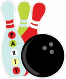 Free printable party templates. Bowling clipart invitation
