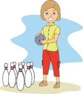 Bowling clipart lady. Sports free to download