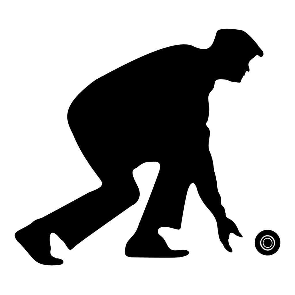 Bowling clipart lawn bowling. Bowler silhouette add bowls