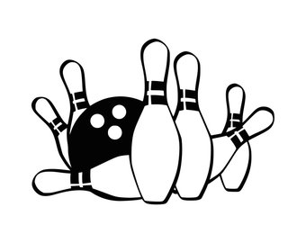 Pin svg etsy . Bowling clipart logo