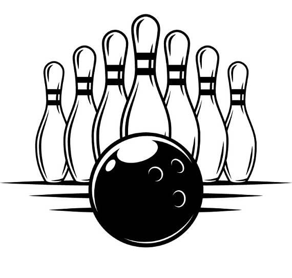 Bowling clipart logo. Ball pins setup sports