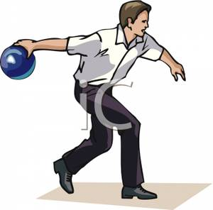 bowling clipart man