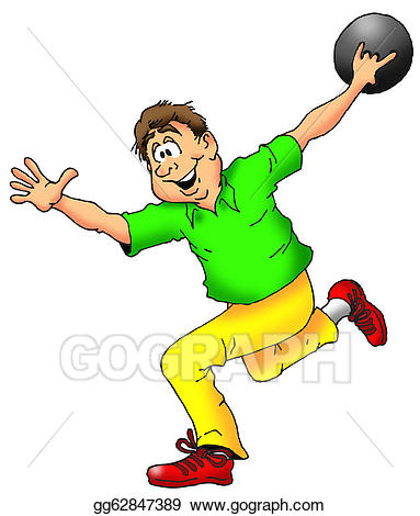 Bowling clipart man. The bowler stock illustration