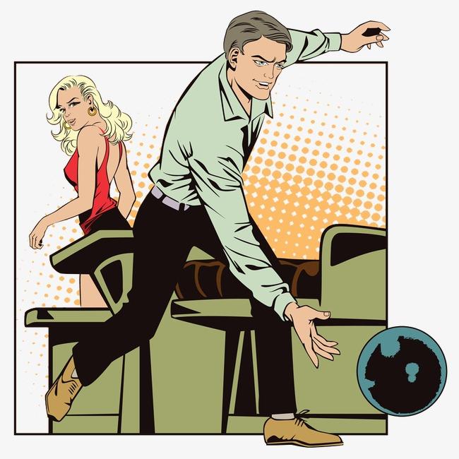 Bowling clipart man. Men and women movement