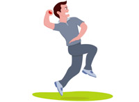 Sports free cricket to. Bowling clipart man
