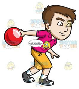 Bowling clipart man. A competitive guy enjoying