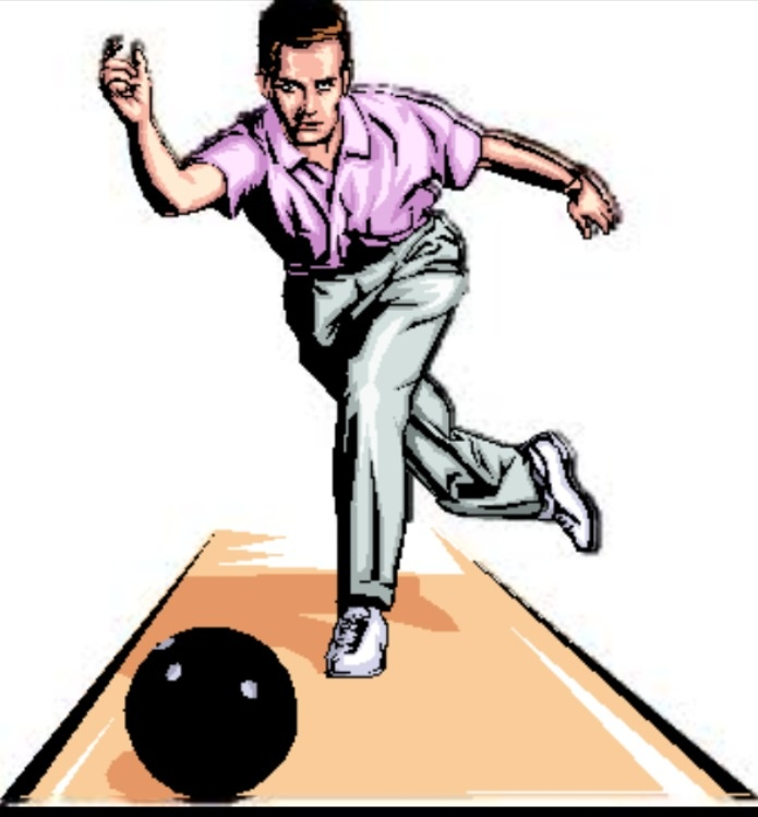 Funny cliparts free download. Bowling clipart man