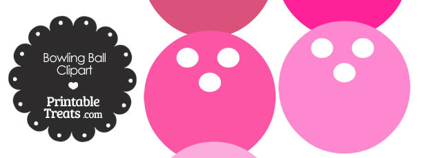 Bowling clipart pink. Ball printable treats com