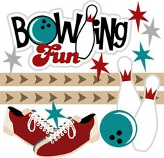 Free . Bowling clipart printable