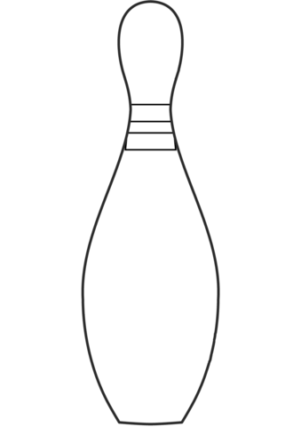 Pin coloring page free. Bowling clipart printable