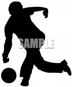 People . Bowling clipart silhouette
