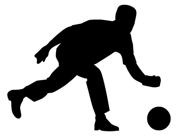 bowling clipart silhouette