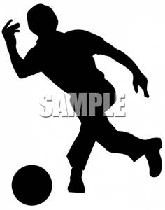 Of a bowler royalty. Bowling clipart silhouette