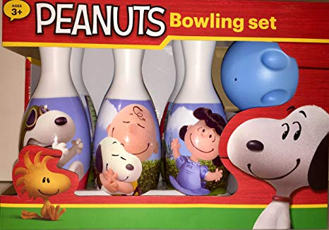 Bowling clipart snoopy. Amazon com peanuts set