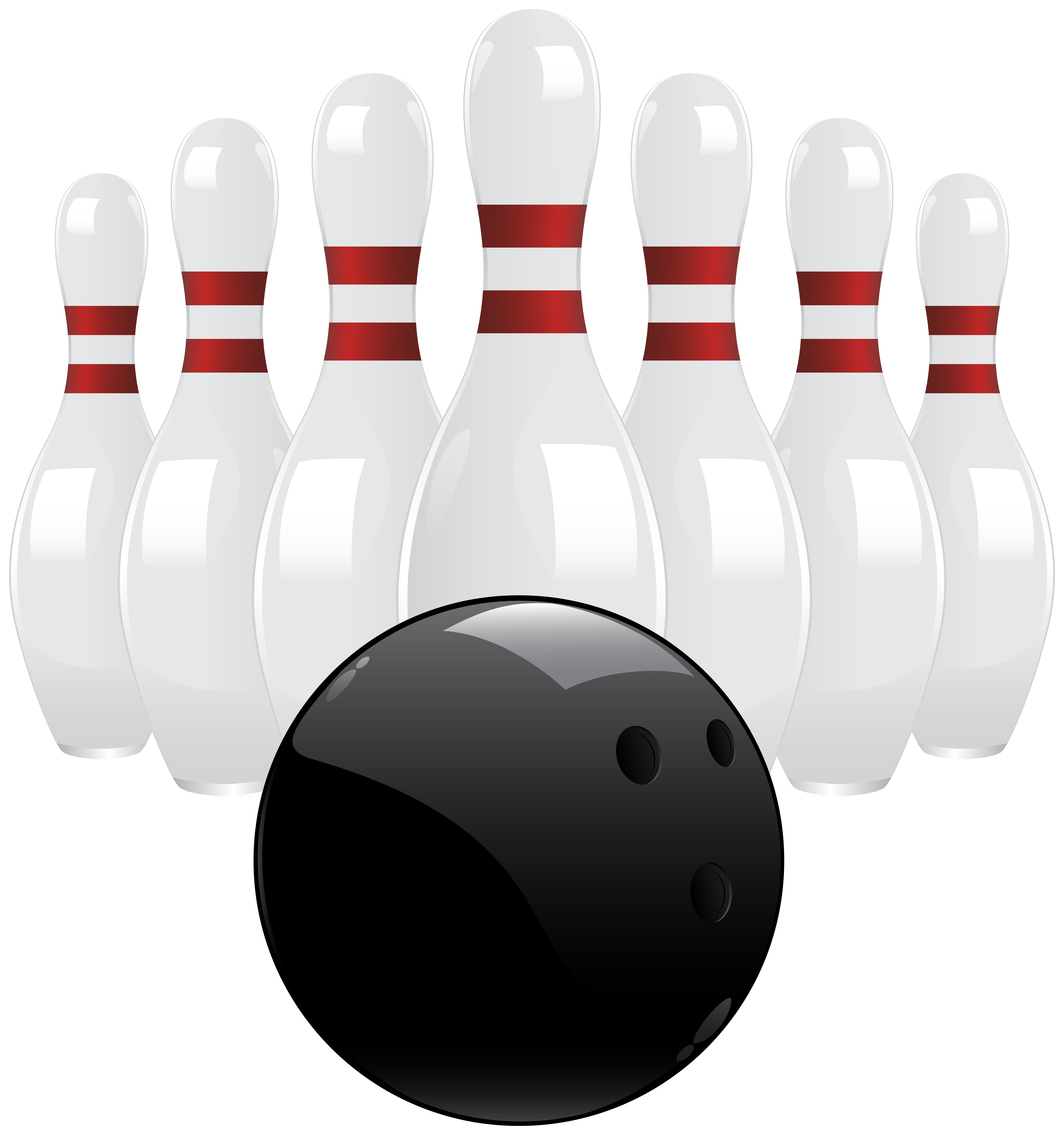 Bowling clipart sport. Black ball and pins
