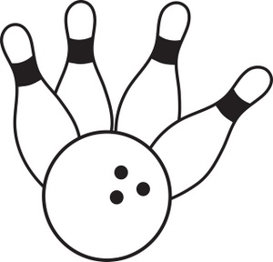 Image ball knocking down. Bowling clipart sport