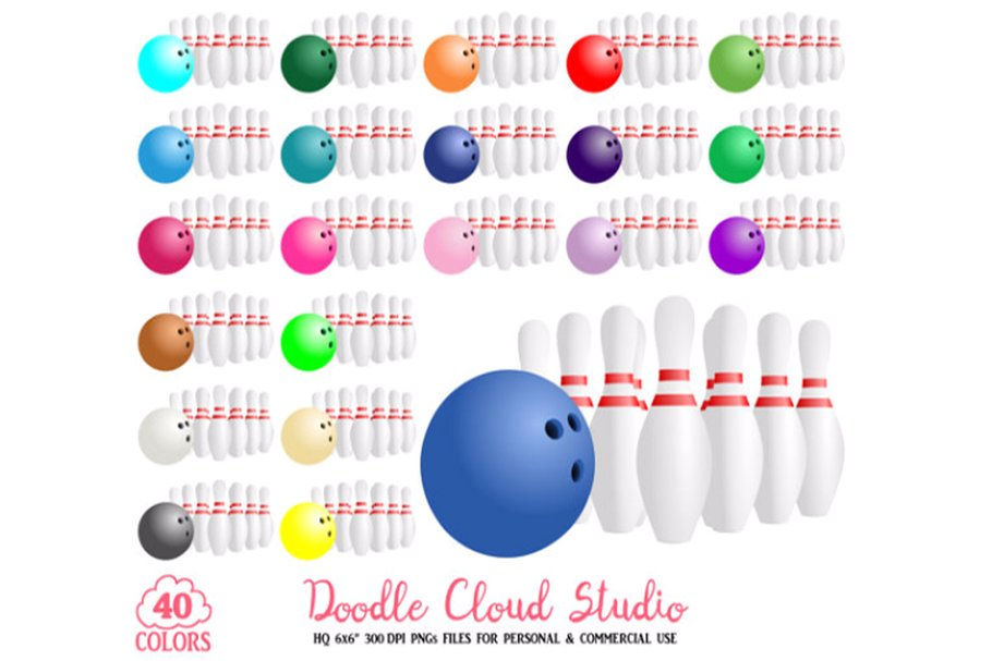 colorful. Bowling clipart sport