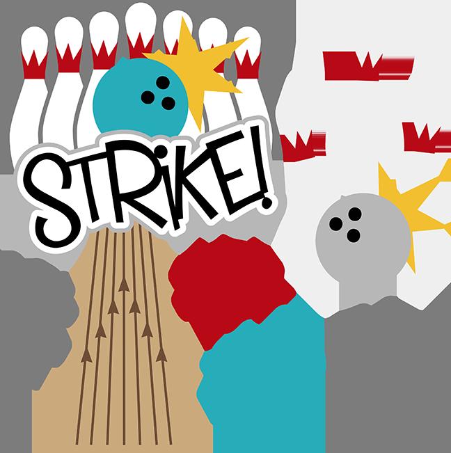 Coconut clipart bowling. Strike svg scrapbook files
